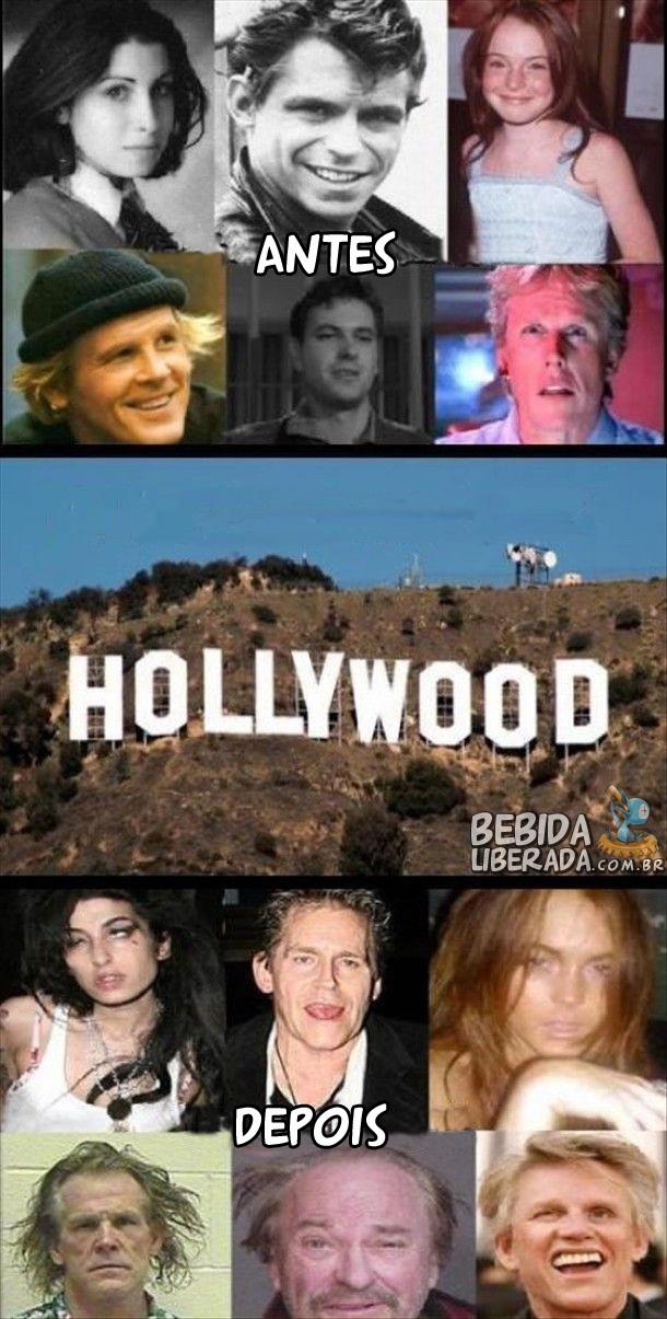 Hollywood Antes e depois