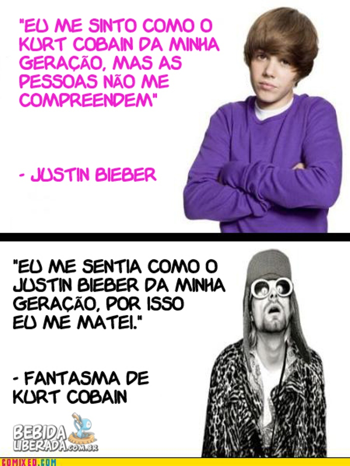 Justin Bieber se compara a Kurt Cobain