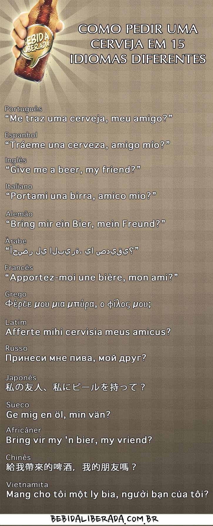 Como pedir cerveja em 15 idiomas diferentes!