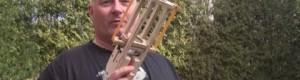 Uma pistola colocadora de camisinhas