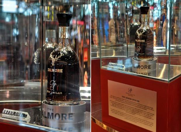 Um empresário chinês pagou US$ 200 mil (R$ 408 mil) por uma garrafa de uísque escocês Dalmore 62. Apenas 12 unidades haviam sido produzidas.